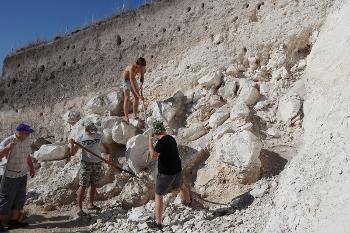Разбор древнего обвала меловой скалы